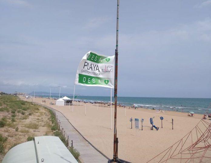 Bandera de playa cardioprotegida