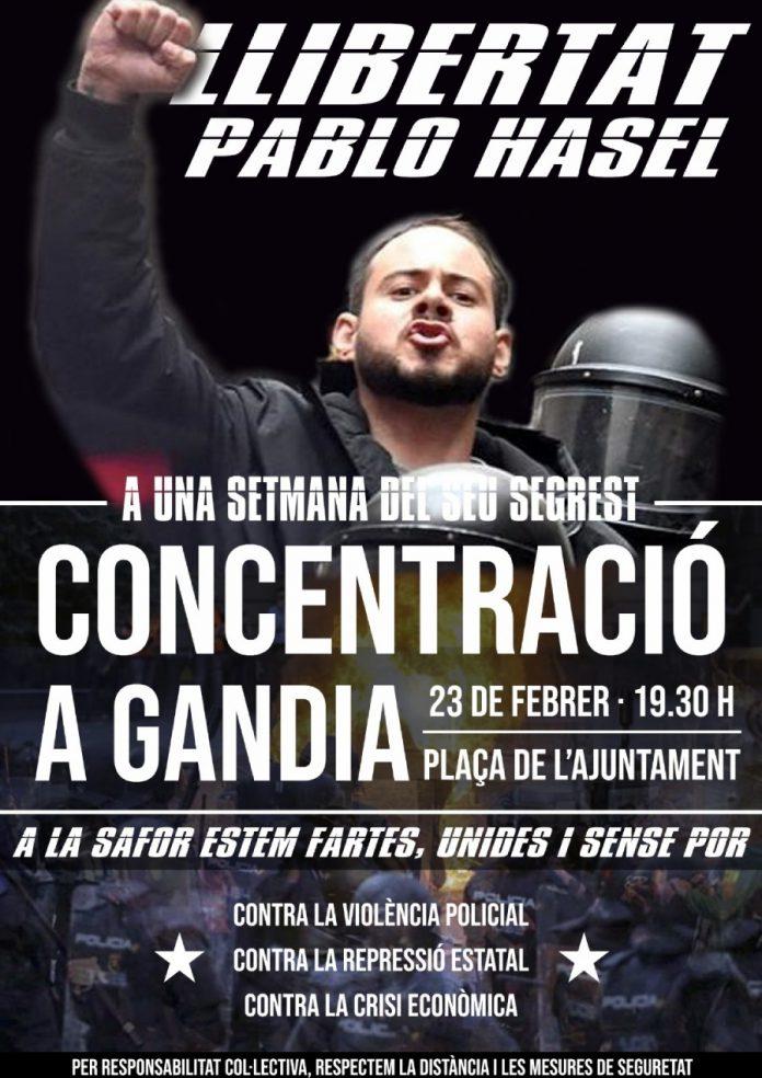 Safor concentració Pablo Hasel
