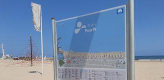 paneles informativos playas de Oliva